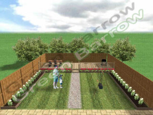 Hard and soft landscaping example