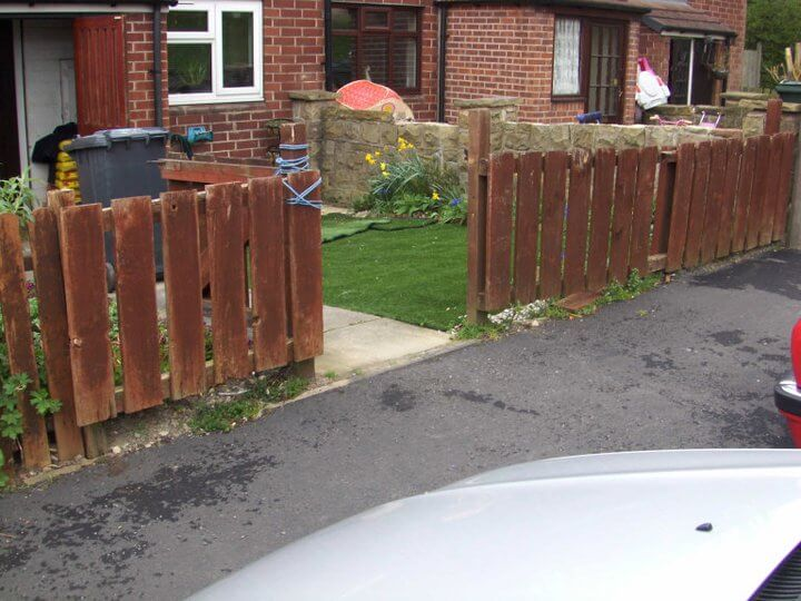 Feather Edge Fencing, Swallownest, Sheffield before photo